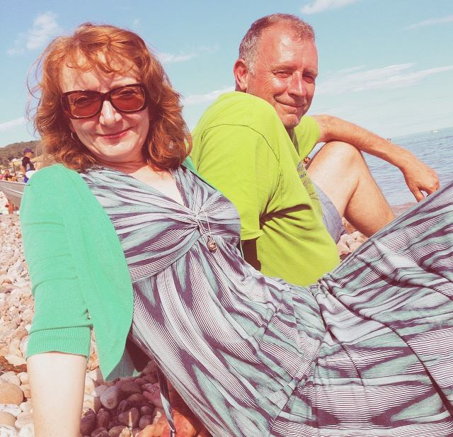 ali and jon davey sidmouth beach