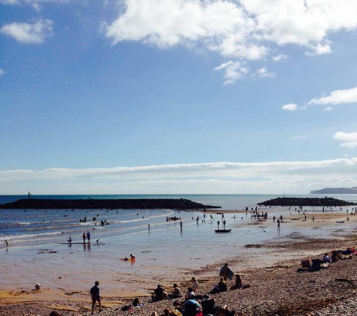 sidmouth ex10 beach 6th august