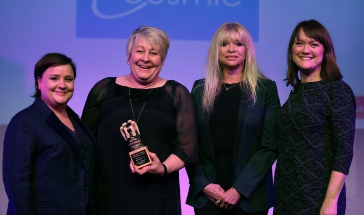 julie-hawker-at-cosmic-it-winner-women-in-social-enterprise-award