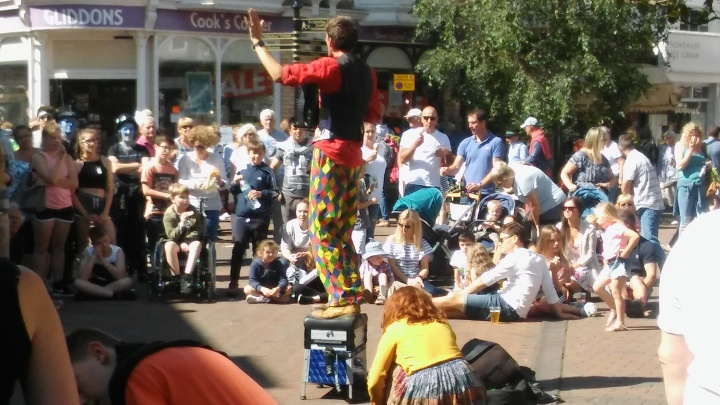juggling in the street sidmouth folk week