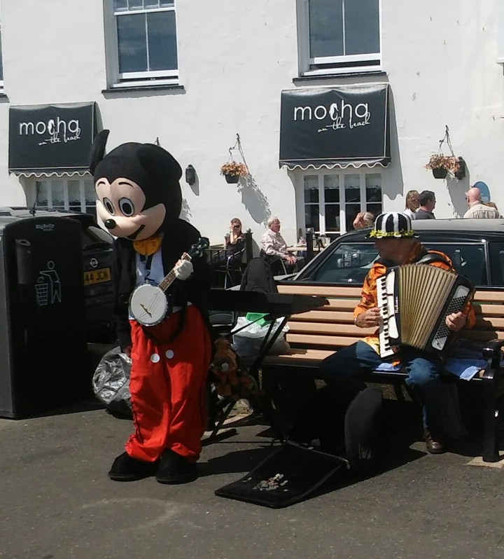 mikey mouse in sidmouth