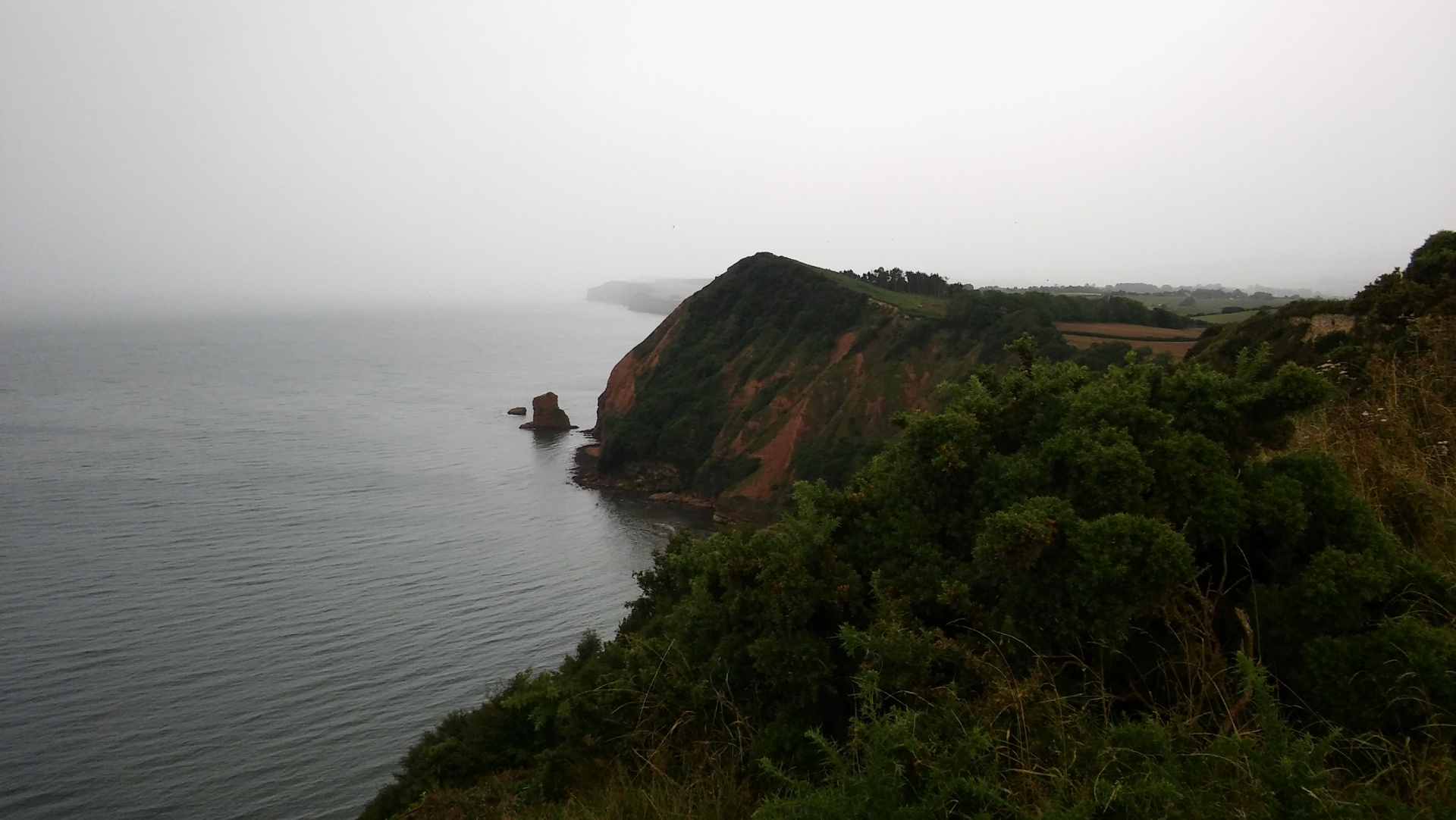 view from peak hill on rainy day